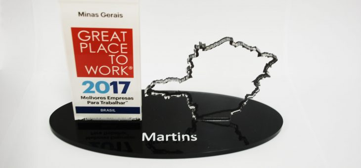 Martins is between the best companies to work in Minas Gerais by GPTW