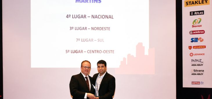 Martins is one of the winners of the 12th prize excellence wholesaler distributor