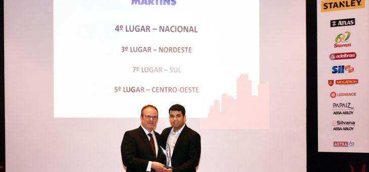 Martins é um dos vencedores do 12º Prêmio Excelência Atacadista Distribuidor